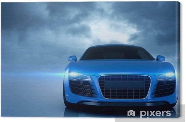 Tableau sur toile Bleu voiture de sport -