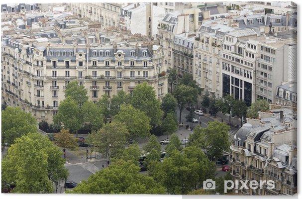 Tableau sur toile Bloc de logement et de carrefour dans le centre-ville de Paris - Villes européennes