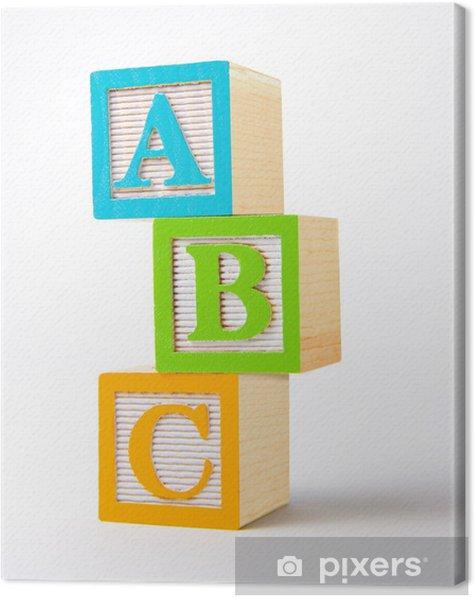 Tableau sur toile Blocs alphabet en bois -