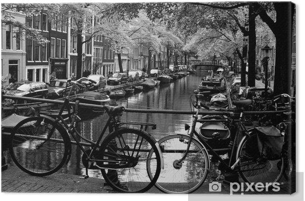 Tableau sur toile Bloemgracht d'Amsterdam - Vélos