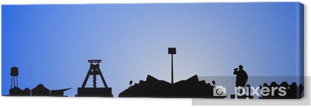 Tableau sur toile Bochum silhouette - Vente