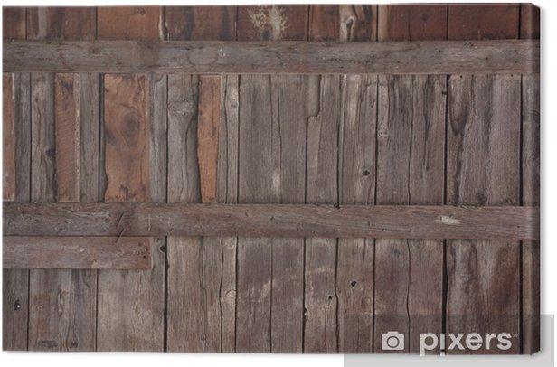tableau sur toile bois patin de l 39 ancien mur de la grange pixers nous vivons pour changer. Black Bedroom Furniture Sets. Home Design Ideas