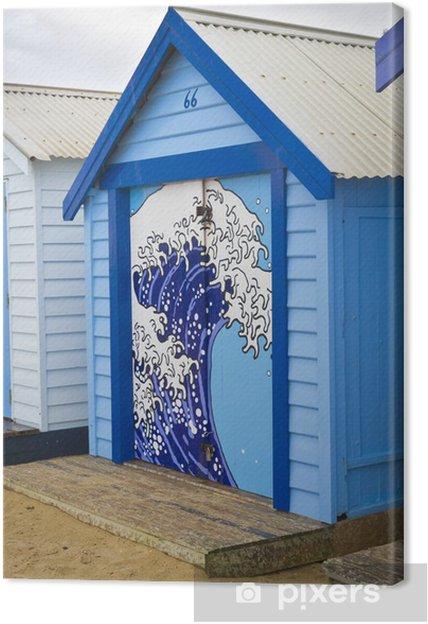 Tableau sur toile Boîte de bain bleu - Eau