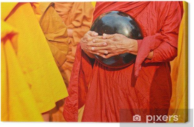 Tableau sur toile Bol à aumônes de moine bouddhiste - Religion