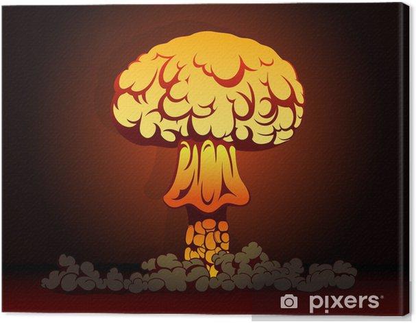 Tableau sur toile Bombe nucléaire explosion - Vie