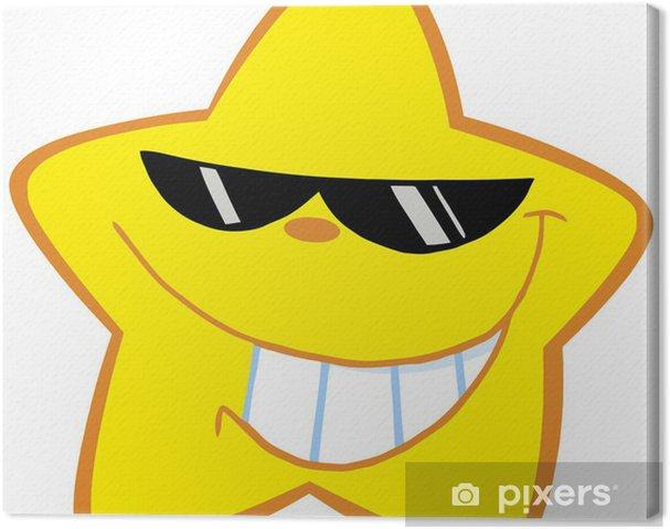 Tableau sur toile Bonne Little Star Avec Lunettes de soleil - Espace