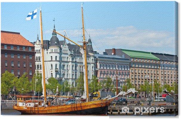 Tableau sur toile Bord de l'eau Helsinki. - Paysages urbains
