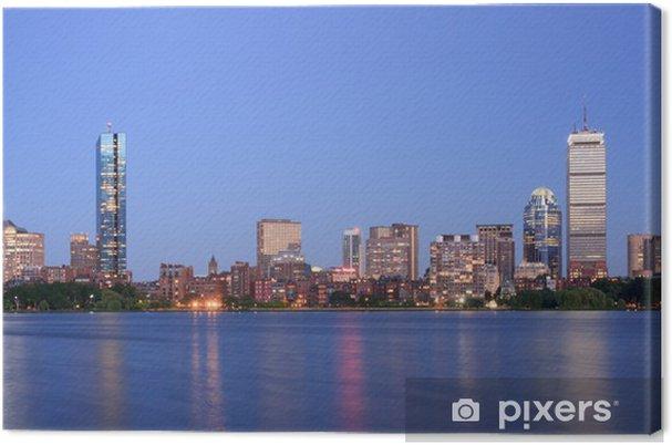 Tableau sur toile Boston, vue de Back Bay de Cambridge - Amérique