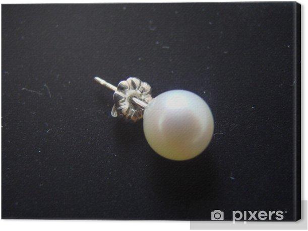 Tableau sur toile Boucles d'oreilles perle - Mode