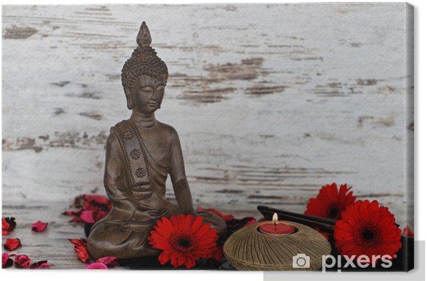 Tableau sur toile Bouddha chiffre - Religion