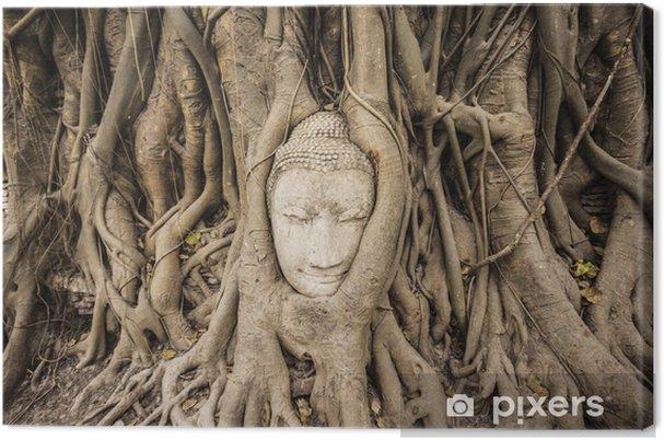 Tableau sur toile Bouddha de grès - Asie