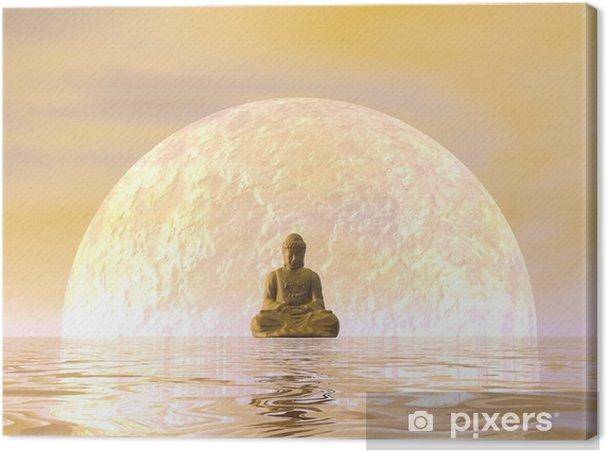 Tableau sur toile Bouddha Méditation - 3D render - Styles