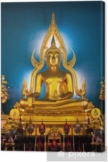 Tableau sur toile Bouddha statue doré - Asie