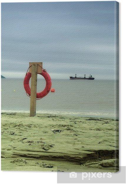 Tableau sur toile Bouée de sauvetage - Bateaux