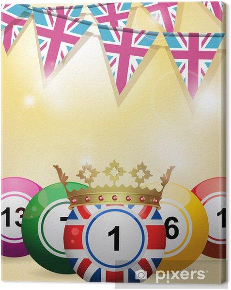 Tableau sur toile Boules de bingo et le bruant - Divertissements