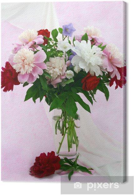 Tableau sur toile Bouquet de fleurs du jardin • Pixers® - Nous ...