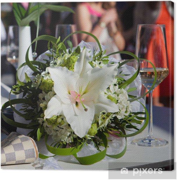 Tableau sur toile Bouquet de mariée avec lys - Célébrations