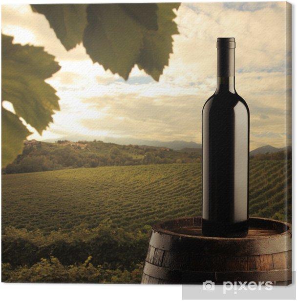 Tableau sur toile Bouteille de vin rouge - Thèmes