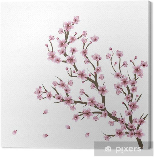 Tableau sur toile Branche de fleurs de cerisier - Thèmes
