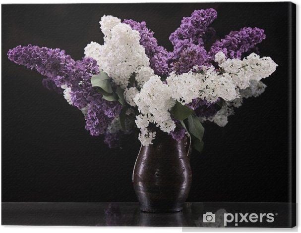 Tableau sur toile Branches de floraison des lilas - Fleurs