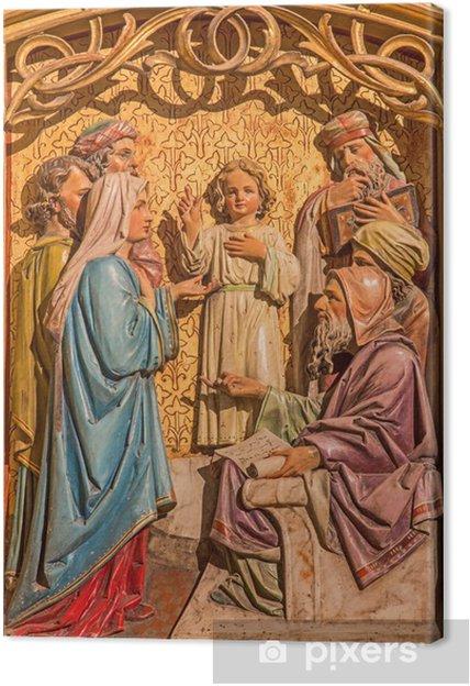Tableau sur toile Bratislava - Garçon enseignement de Jésus dans le Temple - cathédrale - Europe