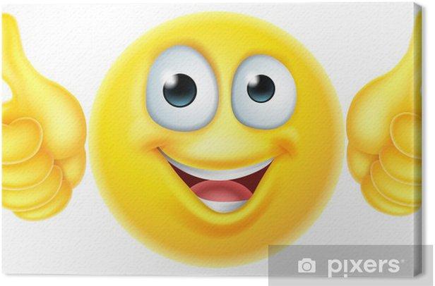 Tableau sur toile Bravo émoticône emoji - Signes et symboles