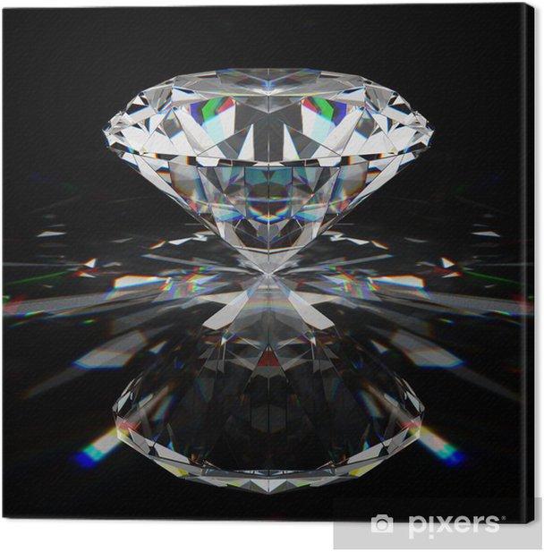 Tableau sur toile Brillant diamant - Réussite