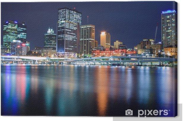 Tableau sur toile Brisbane la nuit - Thèmes