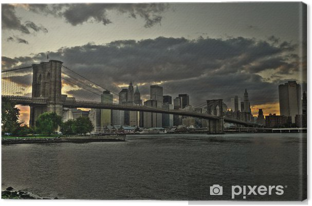 Tableau sur toile Brooklyn bridge - Thèmes