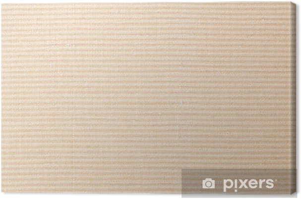 Tableau sur toile Brown fond beige texture textile - Textures