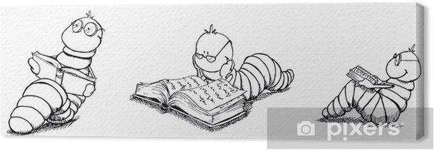 Tableau sur toile Bücherwurm, Leseratte, Bücher, Schule, Bibliothek - Autres sentiments