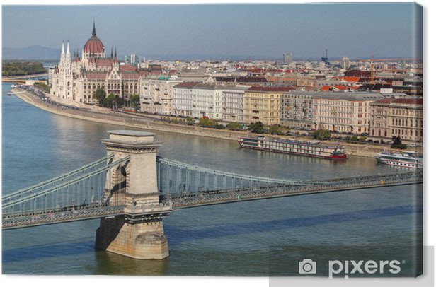 Tableau sur toile Budapest - panorama du château - Europe