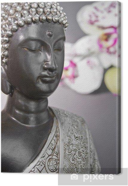 Tableau sur toile BuddhaCloseUp - Thèmes