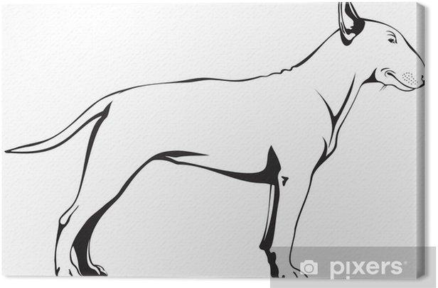 Tableau sur toile Bull Terrier - Mammifères