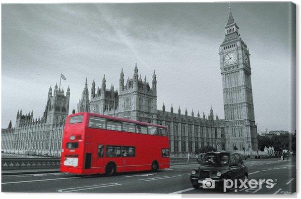Tableau sur toile Bus à Londres -