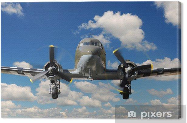 Tableau sur toile C-47 Vinteg Plane Landing - Thèmes