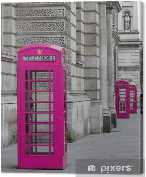 Tableau sur toile Cabines Téléphoniques à Londres - Thèmes