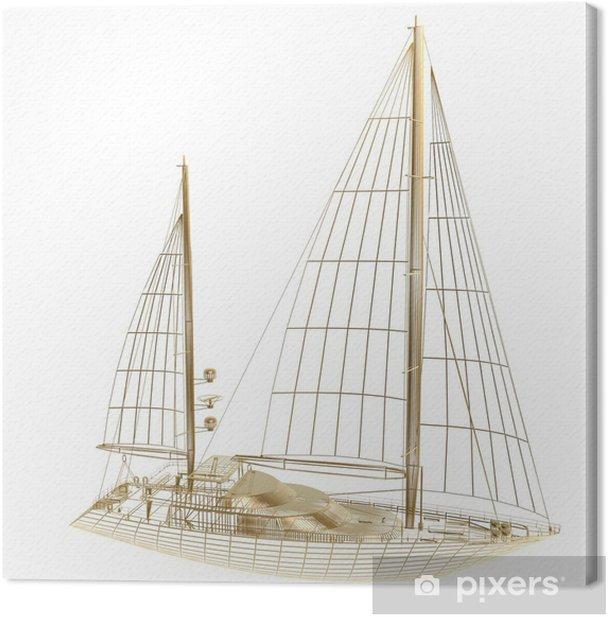 Tableau sur toile Cadre de bateau à voile - Bateaux