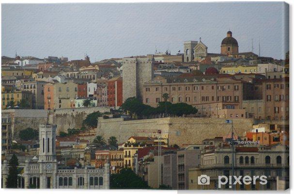 Tableau sur toile Cagliari Skyline - Europe