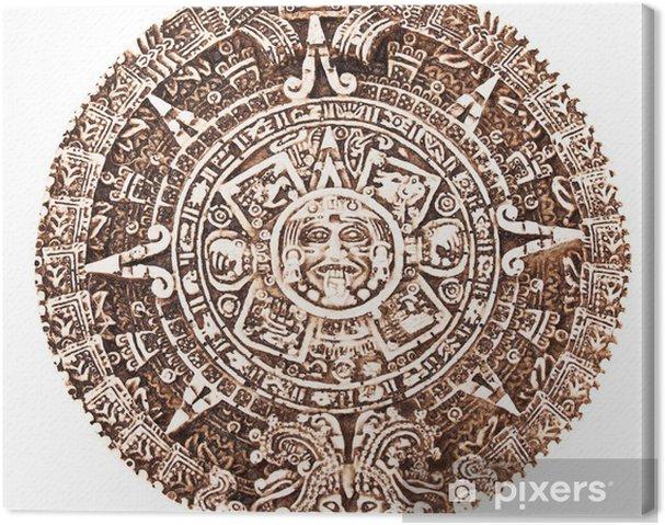 Calendrier Maya Dessin.Tableau Sur Toile Calendrier Maya