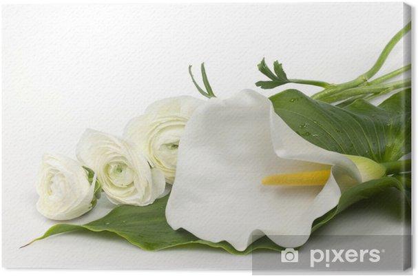 Tableau sur toile Calla et ranuncoli - Fleurs