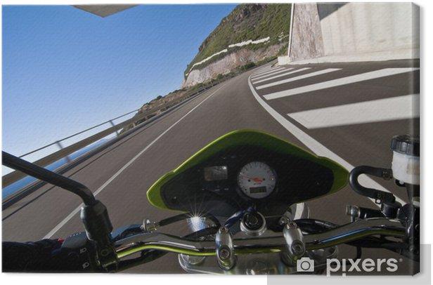 Tableau sur toile Caméra à bord de moto vélo - Europe
