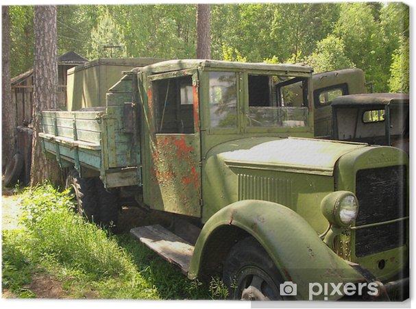 Tableau sur toile Camion militarian russe - Sur la route