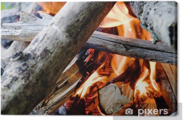 Tableau sur toile Camp fire - Vacances