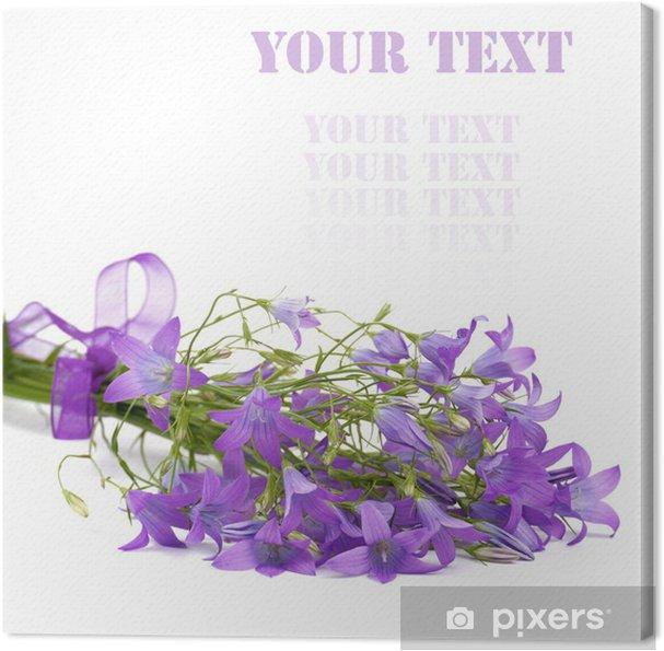 Tableau sur toile Campanule fleurs. - Fleurs
