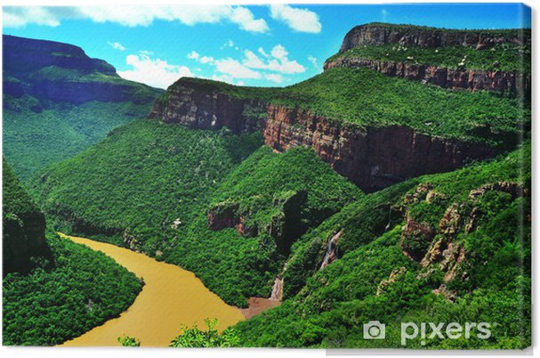 Tableau sur toile Canyon de Blyde River - afrique du sud - Nature et régions sauvages