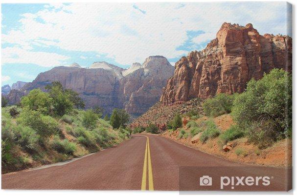 Tableau sur toile Canyon montagnes de la route - Amérique