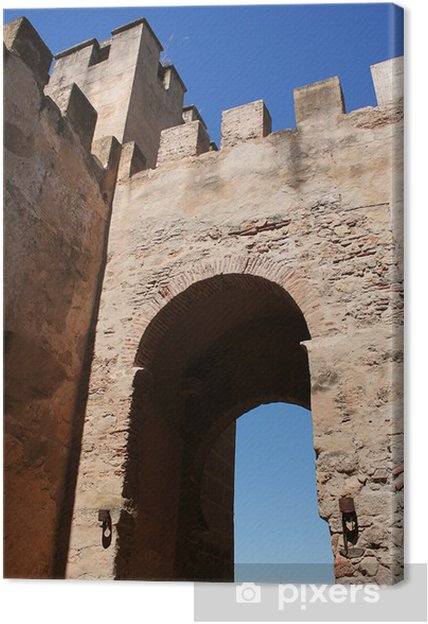 Tableau sur toile Capitale porte. Muraille arabe de Badajoz - Monuments
