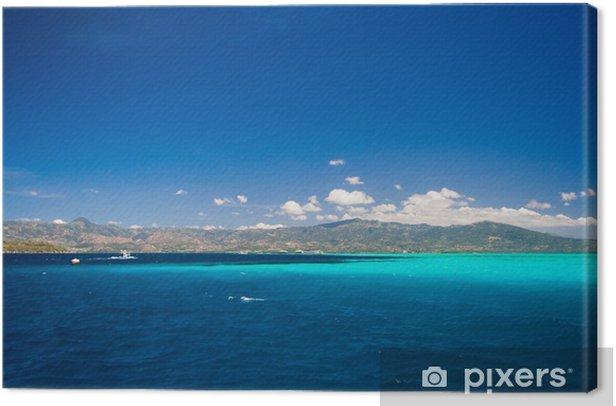 Tableau sur toile Caraïbes vue sur la mer au paradis - Vacances