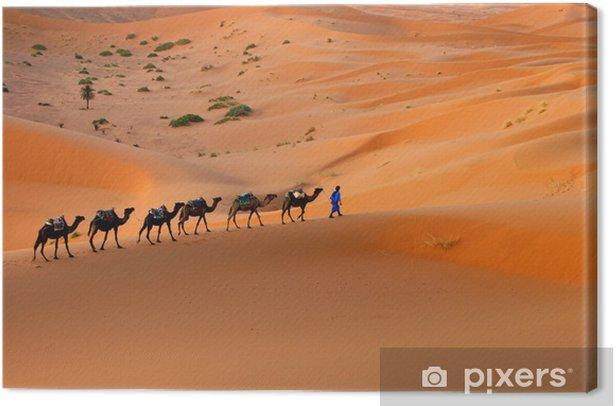 Tableau sur toile Caravane de chameau - Sports d'extérieur